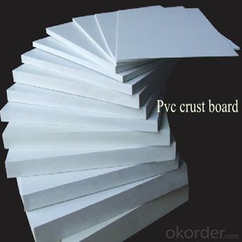 white/ black rigid high density 4x8 pvc foam board for advertising