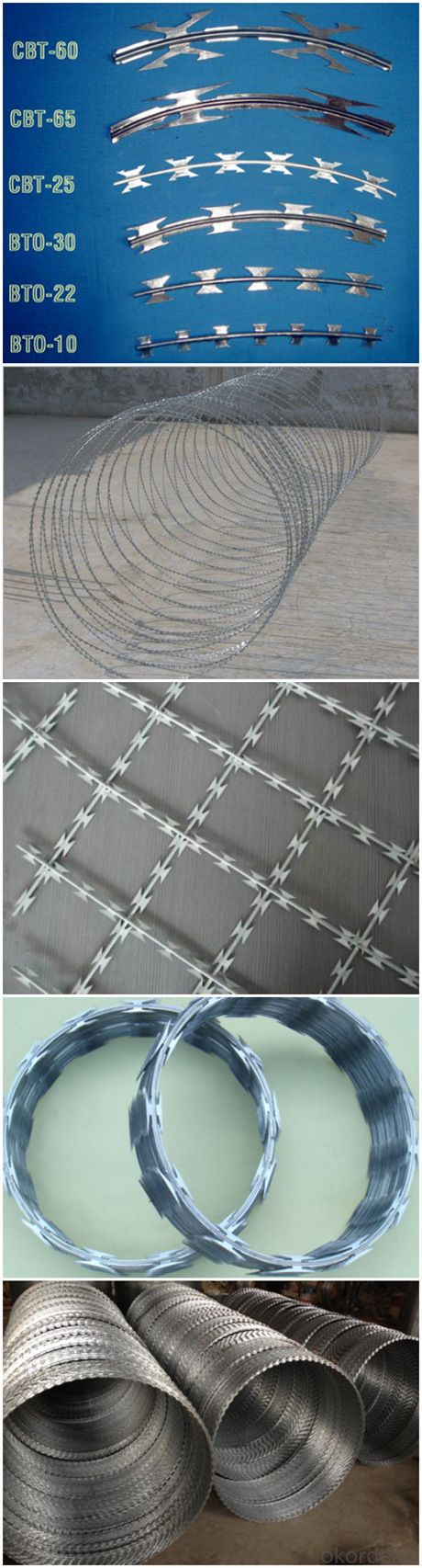 Made in China Concertina Razor Barbed Wire
