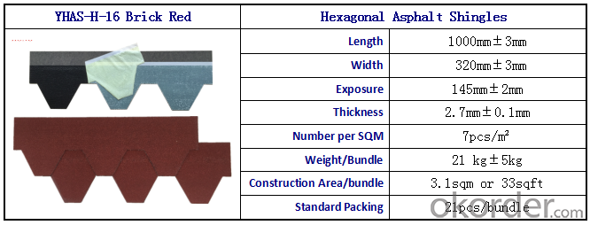 Mosaic Shape Fiberglass Asphalt Shingle/ Roofing Shingle