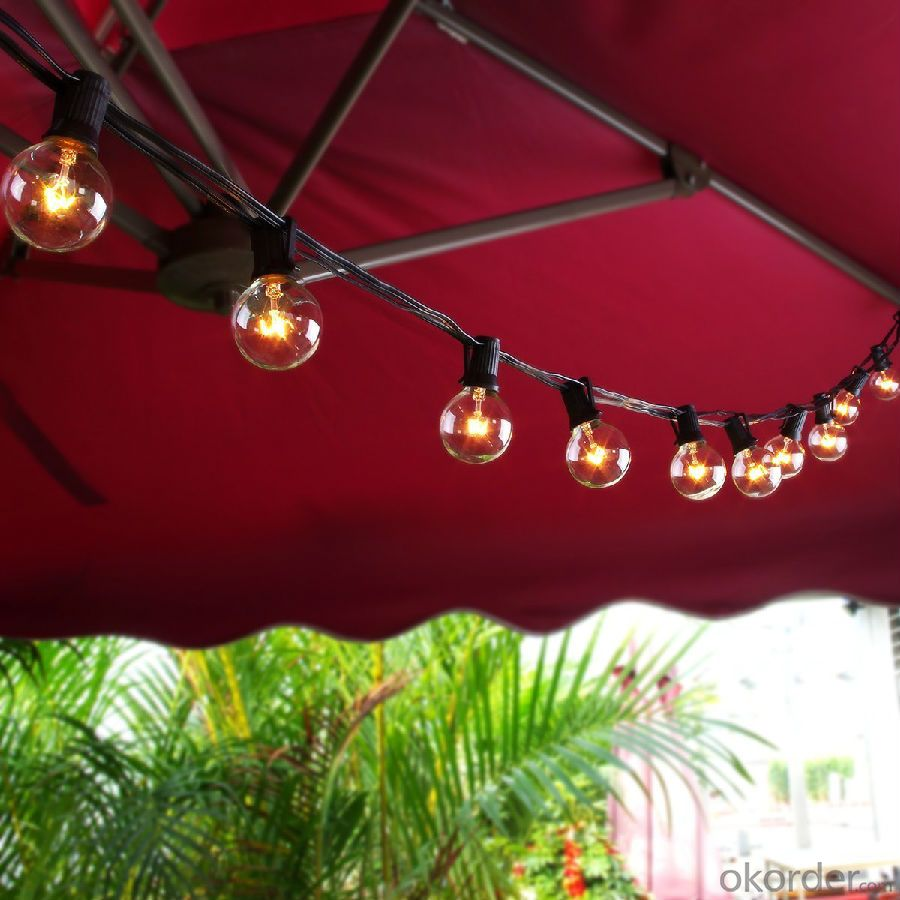 buy 100ft g40 globe string lights with clear bulbs