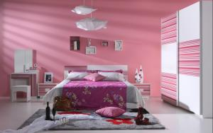Pink Modern Bedroom Furniture Set