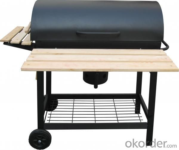 Barrel Charcoal BBQ Grill With Trolley--B3038A