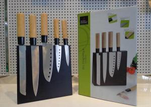 Kitchen Knife Set 6 Pieces Hollow Handle With Wood Block