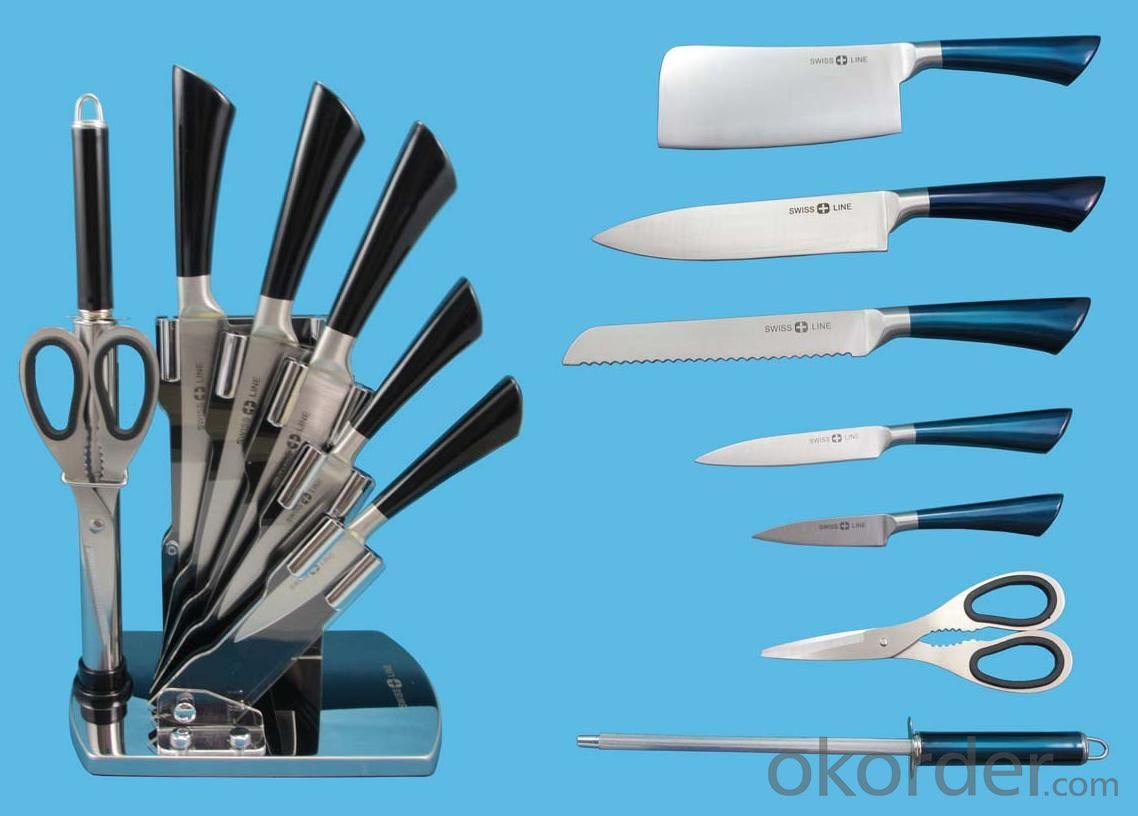 8 pcs Kitchen Knife Set Hollow Handle