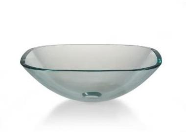 Pegasus Vessel Sink in Clear Glass