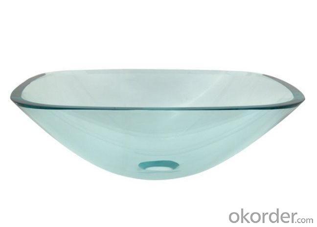 Pegasus Vessel Sink in Clear Glass