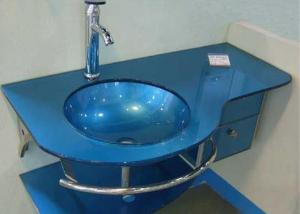 Glass Vessel Sink in Blue