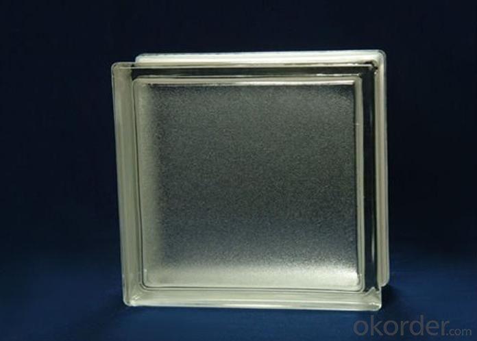 Decorative Clear Mist Block of Glass