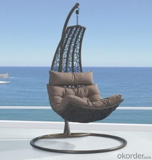 Steel Rattan Double Seats Hanging Chair