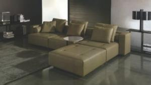 2012 New Design Warm Colorful Corner Sofa Set with Ottoman