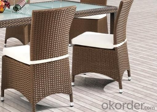Aluminum Rattan Dinging Table Set DT031