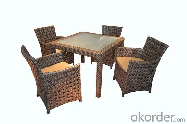Aluminum Rattan Dinging Table Set DT022