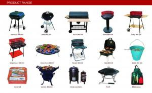 Barrel Charcoal BBQ Grill with Trolley--BA9050B