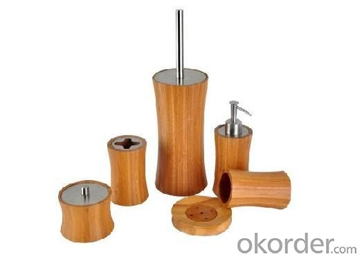 Hot Selling Bamboo Bathroom Set
