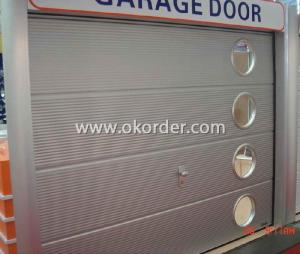 Garage Door with Gavalnised Hardware