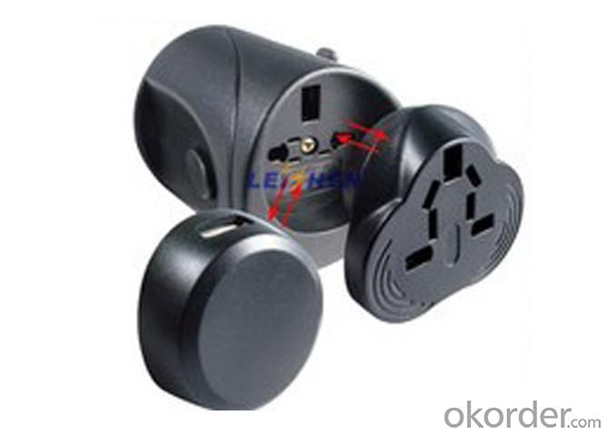 Plug Adapter with USB Charge for World Travel