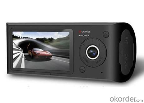 Dual Camera Dual Lens Car DVR Camera 2.7 Inch 480P