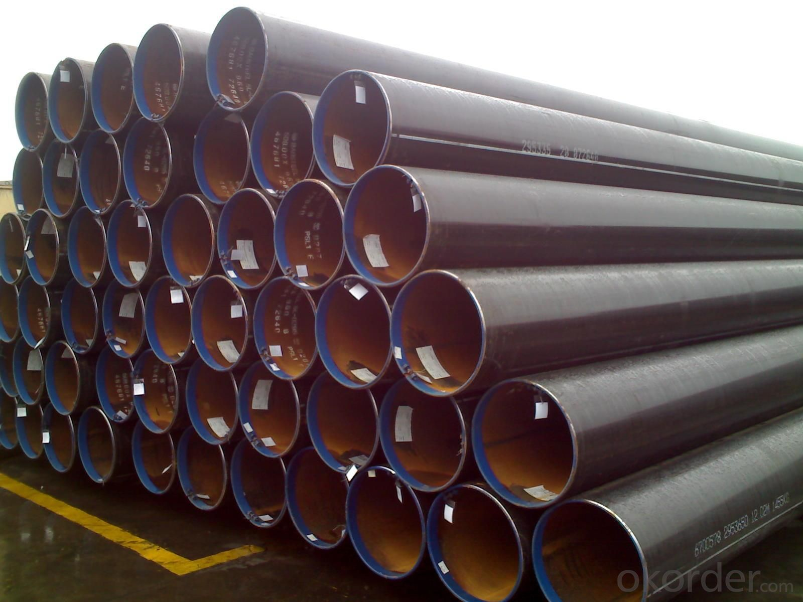 LSAW Welded Steel Pipes API SPEC 5L Gr.B X40 X42 X52 X56 X60 X65 X70