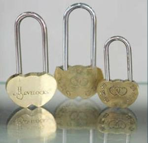 Heart Shaped PadLock Brass