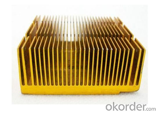 Golden Anodized Aluminium Heat Sink / Radiator