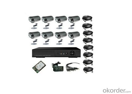 Outdoor CCD Camera 8CH CCTV DVR System
