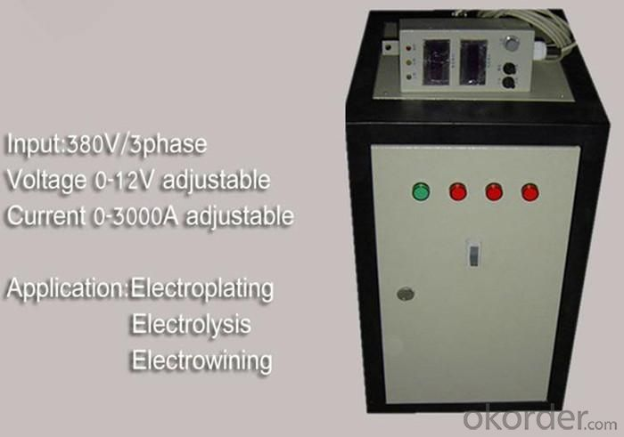High Power Plating Power Supply 12V 3000A