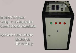 High Power Plating Power Supply 12V 3000A