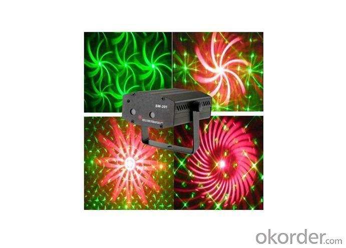 SM-201 Red Green 2 Lens Mini Laser Lighting Gift Light
