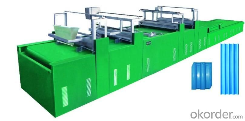 Stone Powder Roofing Sheet  forming Machine