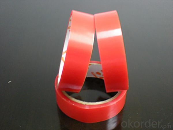 Heat resistant double side acrylic PET clear tape