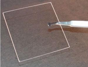 Transparent Square and Round Quartz Glass Plate
