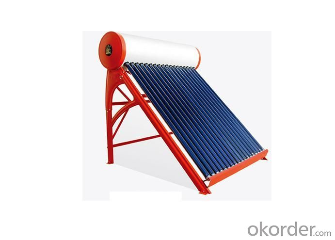 High Quality Low Pressurized Vacuum Tube Solar Water Heater