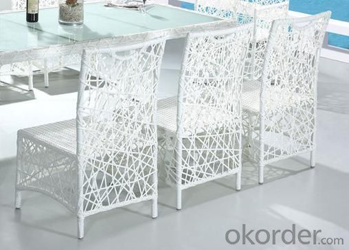 Aluminum Rattan Dinging Table Set DT034