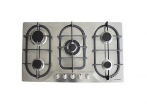 5 Burner Gas Hob with Stainless Steel