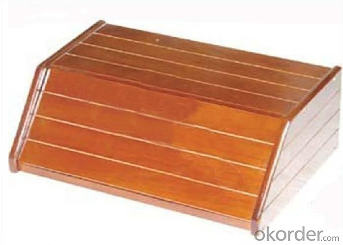 Rubber Wood Bread Box