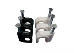 Circle Cable Clips PP/Steel Nail