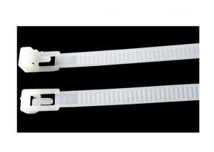 Nylon Reusable Plastic Cable Tie with White Colour