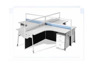 Glass Office Partition Workstation Screen 216 with Blue Colour
