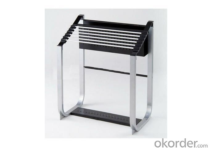 Furniture Magazine Rack with 6 Newspaper Holders