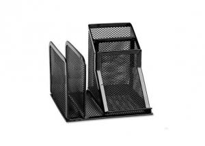 Wire Mesh Desk Organizer with Black Colour