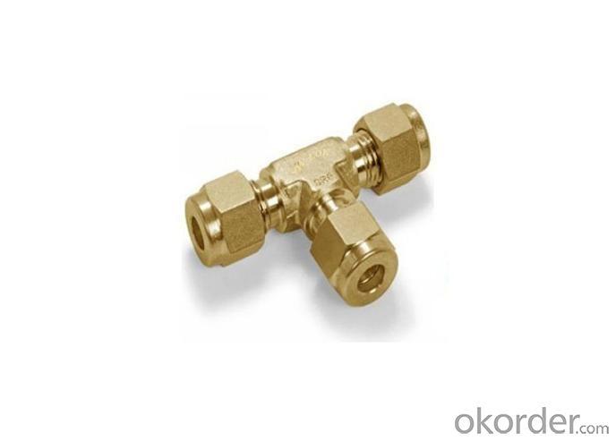 GB15 Brass Double Ferrule Tee