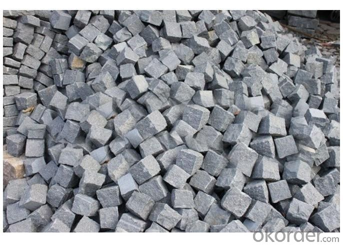 Black Granite Cobble Stone Paving