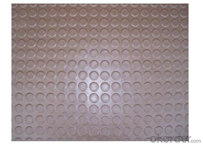 Brown Round Stud Rubber Sheet