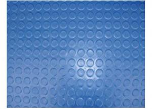 Blue Round Coin Rubber Sheet