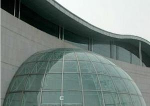Curved Tempered Facades and Curtain Walls
