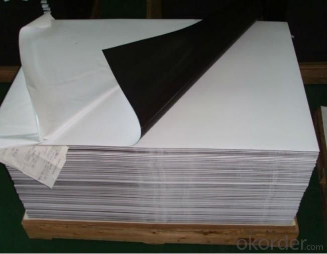 Wide Format Printing Media Magnetic Sheet with White Glossy PVC