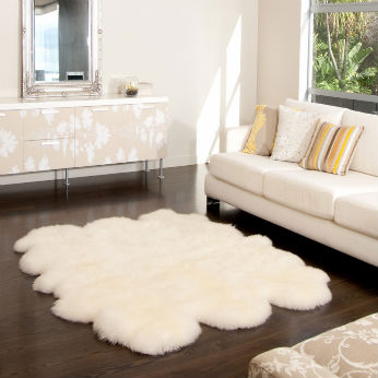High Quality Faux or Natural Sheepskin Floor Carpet