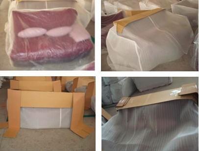 European White Fabric Sofa Set