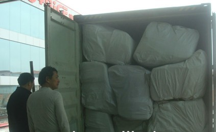 Loading Container of European White Fabric Sofa Net