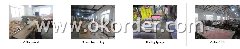 Production Flow of European White Fabric Sofa Set